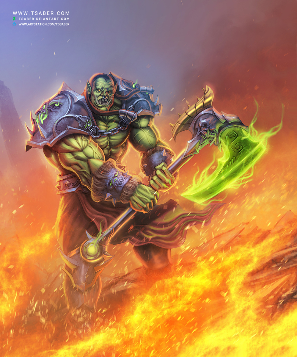 Orc Warrior Wow Video Process And Tutorial By Tsaber On Deviantart