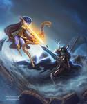 Elf Archer VS Undead Warrior + VIDEO (Wow) by TSABER