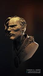 Vampire bust - 3d model sculpture (shot 02)