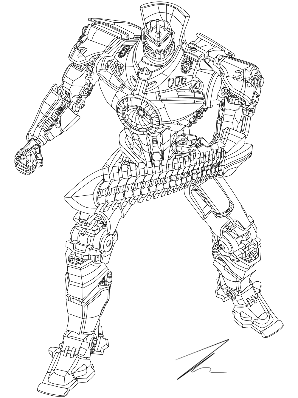 pacific rim gypsy danger coloring pages - gipsy danger by exede on deviantart