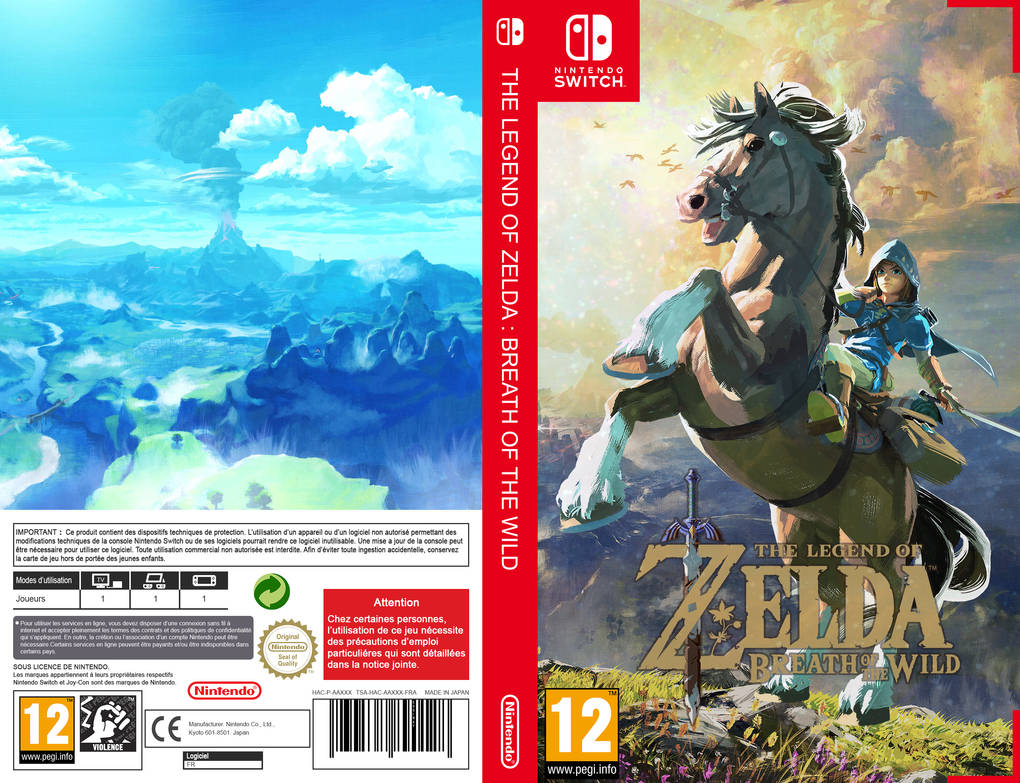 The Legend Of Zelda Breath Of The Wild Cover Alt By