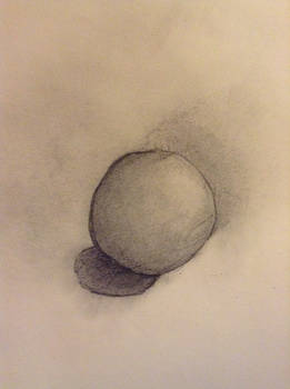Sphere and shadow added