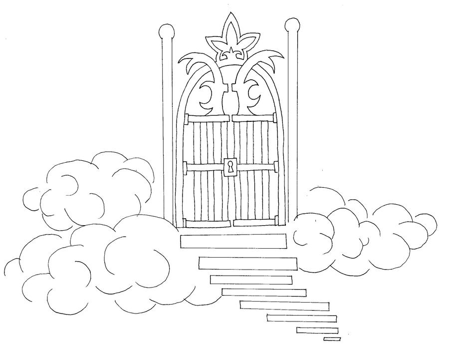 Gates of Heaven Sketch Meg Map Heaven Sketch by
