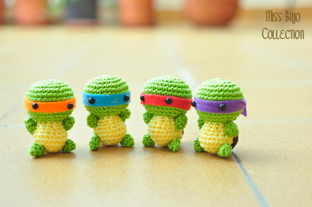 Olaf Amigurumi Crochet Pattern : Ninja turtles by MissBajoCollection on DeviantArt