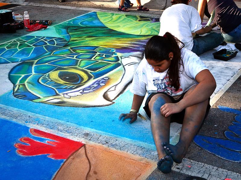 Barefoot Street Chalk Artist by BarefootGuy