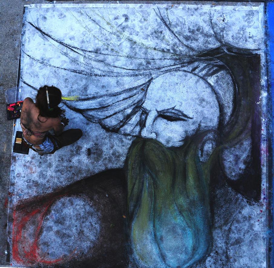 Jennifer Weber Barefoot Street Artist by BarefootGuy