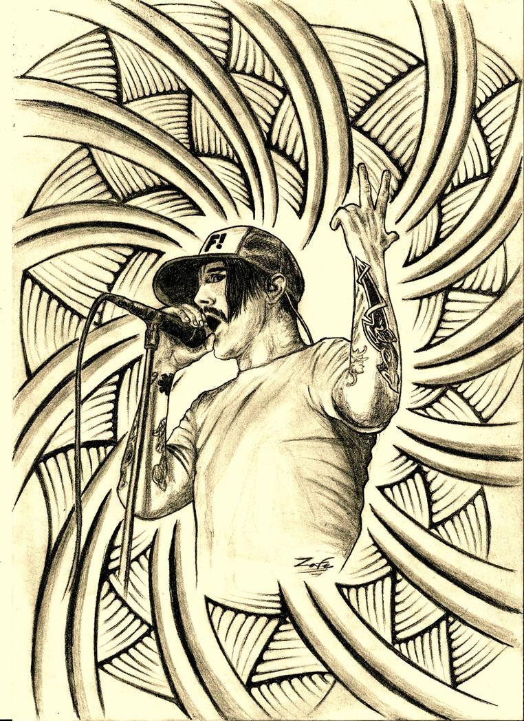 Anthony Kiedis RHCP by Zafe12