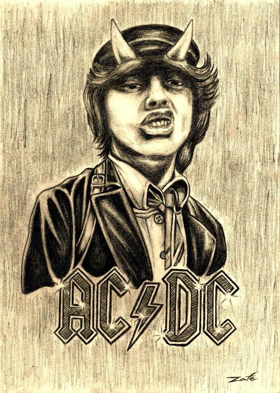 Ac Dc Art : Angus young ac dc by zafe on deviantart