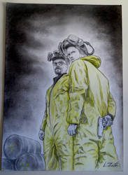 Walter White y Jesse Pinkman (Breaking Bad) by Zafe12