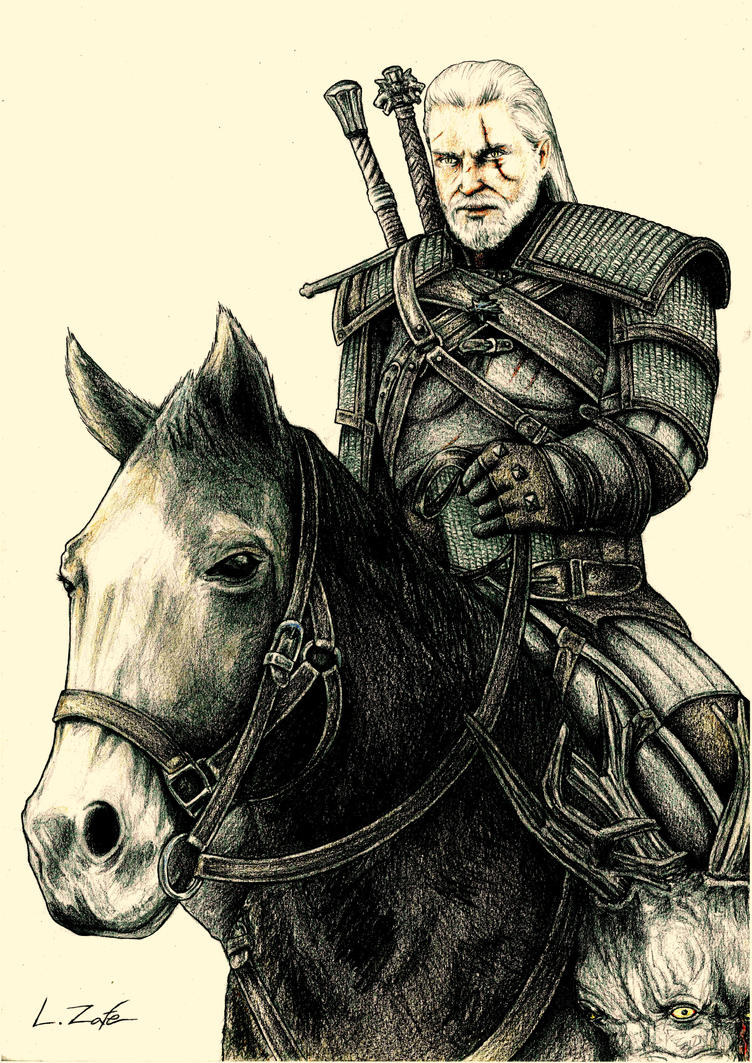 Geralt of Rivia (The Witcher 3)  LUIS ZAFE by Zafe12