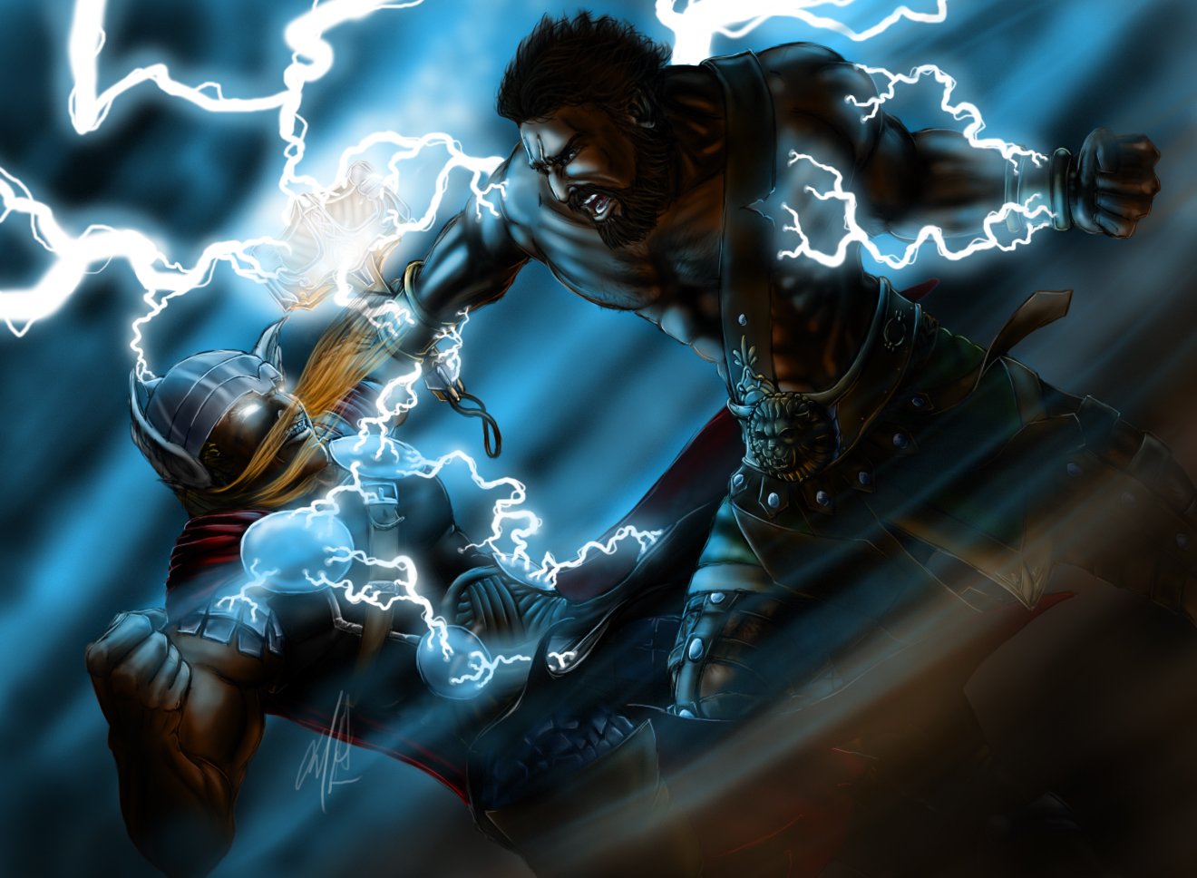 Thor Vs Hercules by Vatero