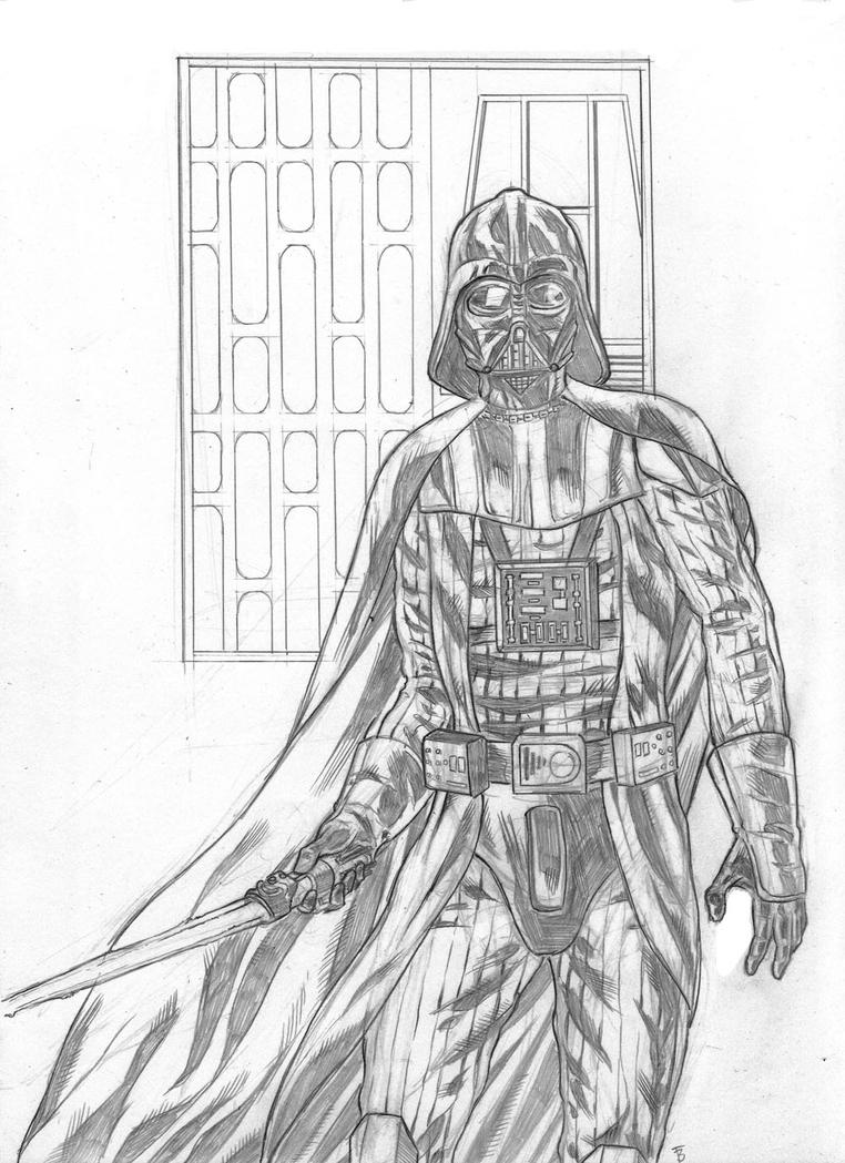 Darth Vader sketch by Thingvold on DeviantArt