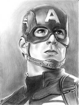 Chris Evans Captain America portrait