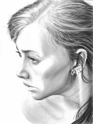 Woman portrait drawing