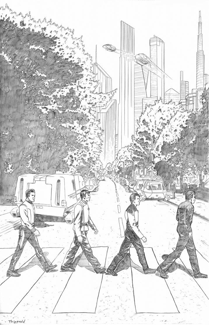 Star Trek/Abbey Road mashup
