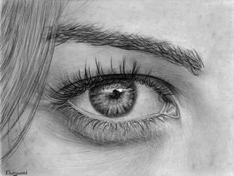 Eye pencil drawing 6