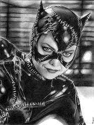 Michelle Pfeiffer as Catwoman graphite drawing