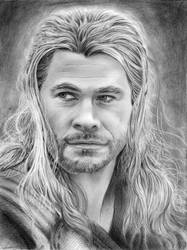 Chris Hemsworth Thor drawing
