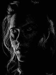 Scarlett Johansson Black Widow white charcoal