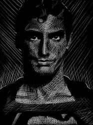 Christopher Reeve/Superman white charcoal