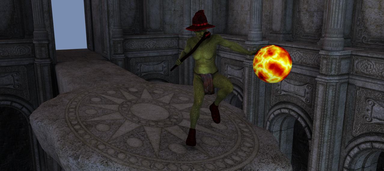 Goblin Fire Mage by scholarwarrior-lad