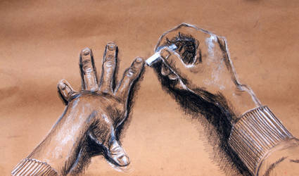 Hands, Escher-Style by ironladyisfe