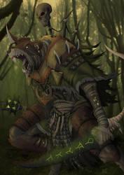 Skaven Warrior by kastart