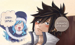 Gray loves Juvia (fairy tail 100 years quest)