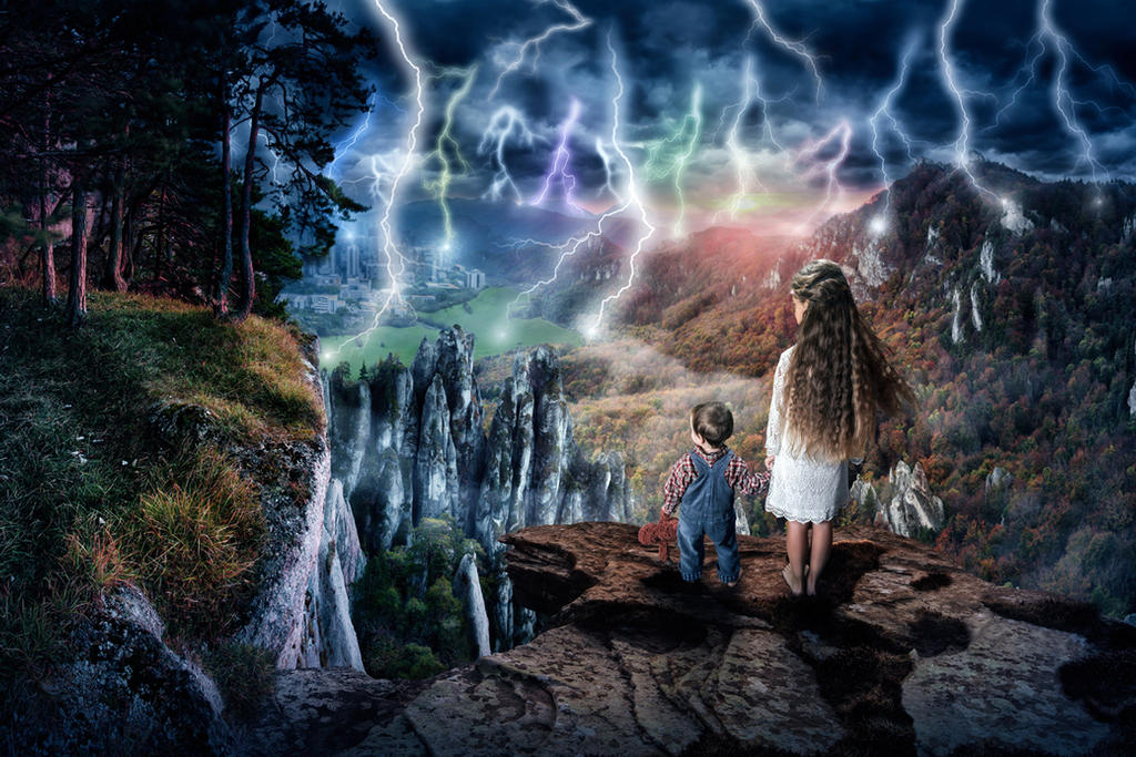 Blitzlichtgewitter by Art-Kombinat
