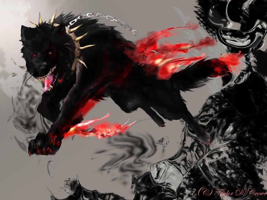 Demon Wolf request by TheRockyCrowe on DeviantArt - photo#27
