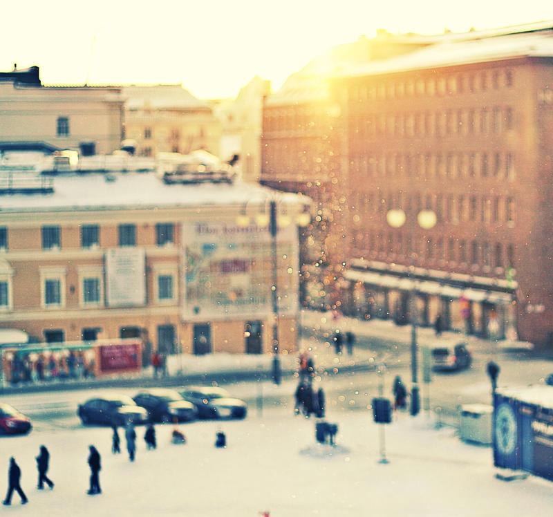 Helsinki by talviunessa