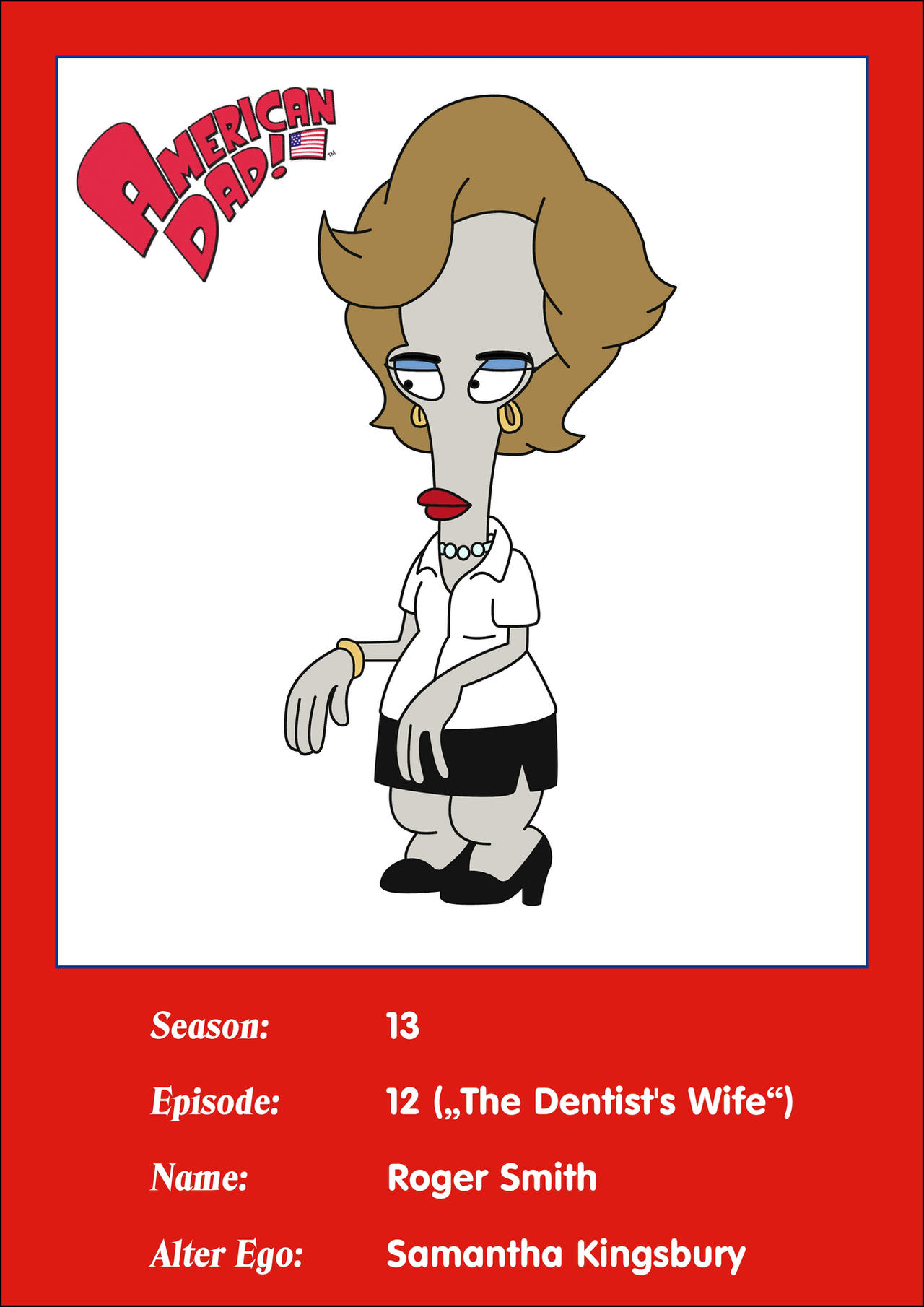 Roger Smith Also Known as Wogir American Dad - Custom ...  Roger Smith American Dad