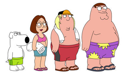 Brian Meg Chris and Peter Griffin