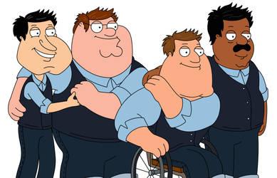 Family Guy (Quagmire, Peter, Joe, Cleveland)