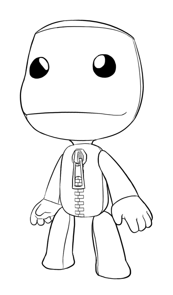 Sackboy Drawing Gallery Big Planet Coloring Pages