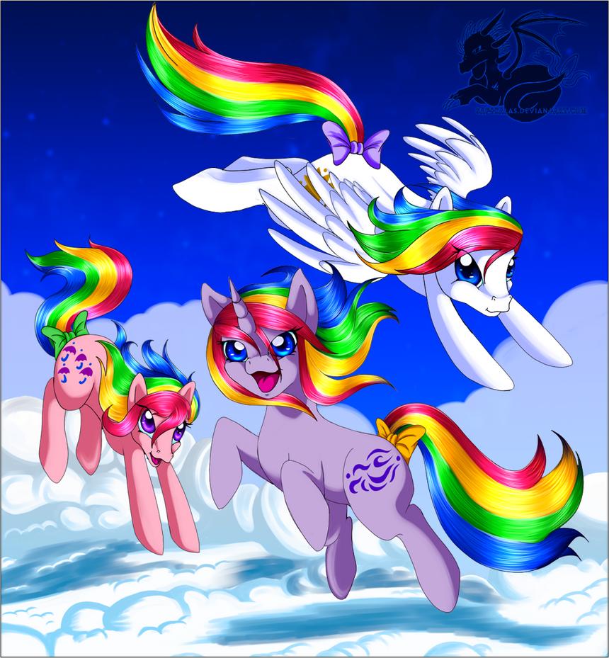 Rainbow Ponies by Saftkalas