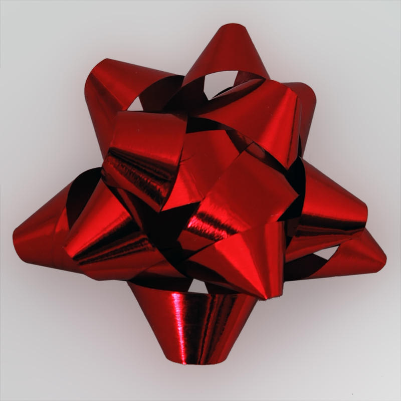 red christmas bow by lucieg stock - Red Christmas Bows