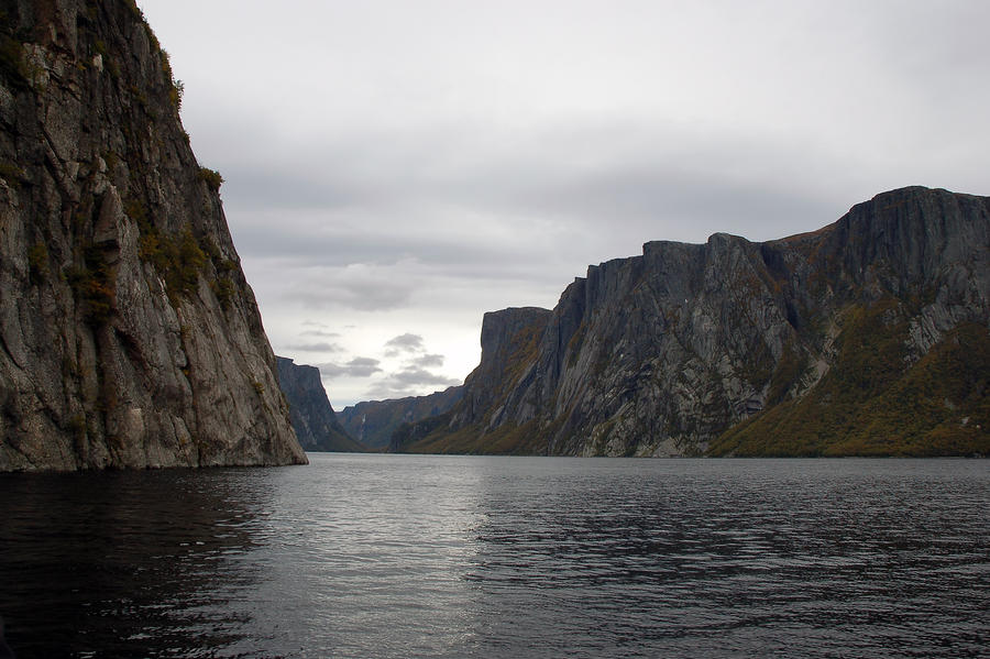 Western Brook pond in the fall by LucieG-Stock