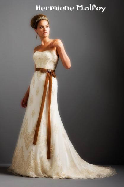 Hermione malfoy by chibichichio on deviantart for Julian alexander wedding dresses