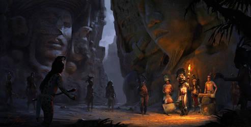Mayan Rituals by RenjuArt