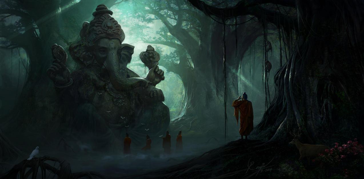 Ganesh Ruins concept by RenjuArt
