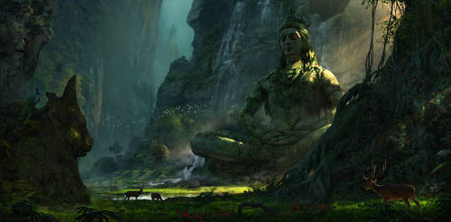 Unexplored Ruins- 05 ( Lord Shiva ) by RenjuArt