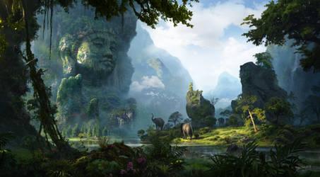 Unexplored Ruins-06 (Buddha) by RenjuArt