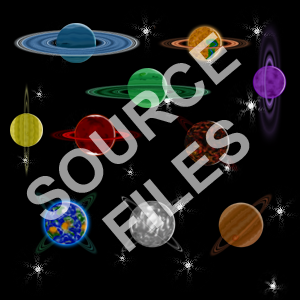 Ringed Planet Source Files -- Available at OGA! by Cougarmint