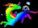 Faye the Rainbow Dragon -- Adoptable!