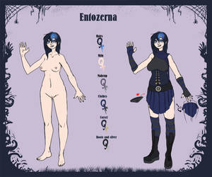 Charac Sheet Entozerna commission by DarkMinou