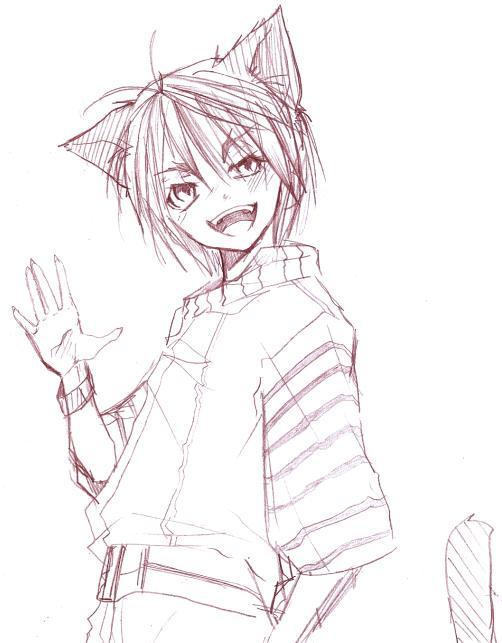Sketchy Cat Boy Dl By Saiyukiluver On DeviantArt