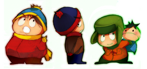 South Park Boys by saiyukiluver