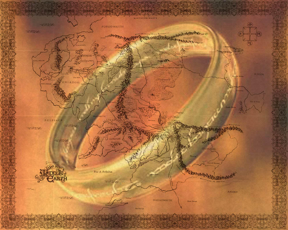 Lord of the Ring Map by garysrobbo