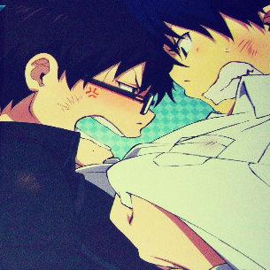 Ao No Exorcist - Rin and Yukio Okumura icon by LeiaMordio